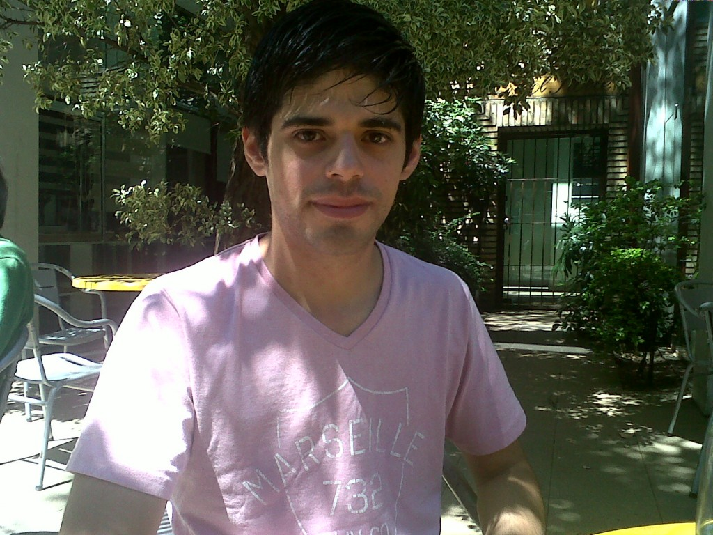 Pablo Cenzano, profesor de teatro en el Centro Cultural
