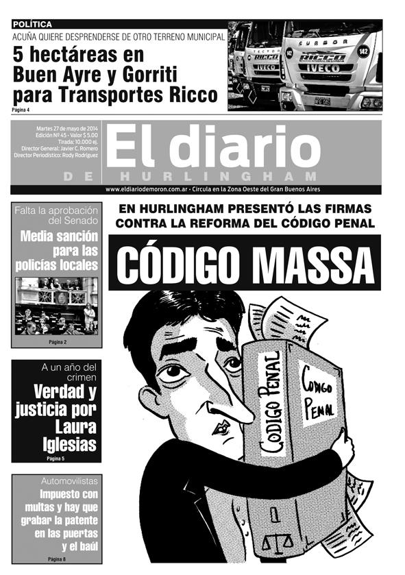 Massa presentó firmas contra reforma de Código Penal