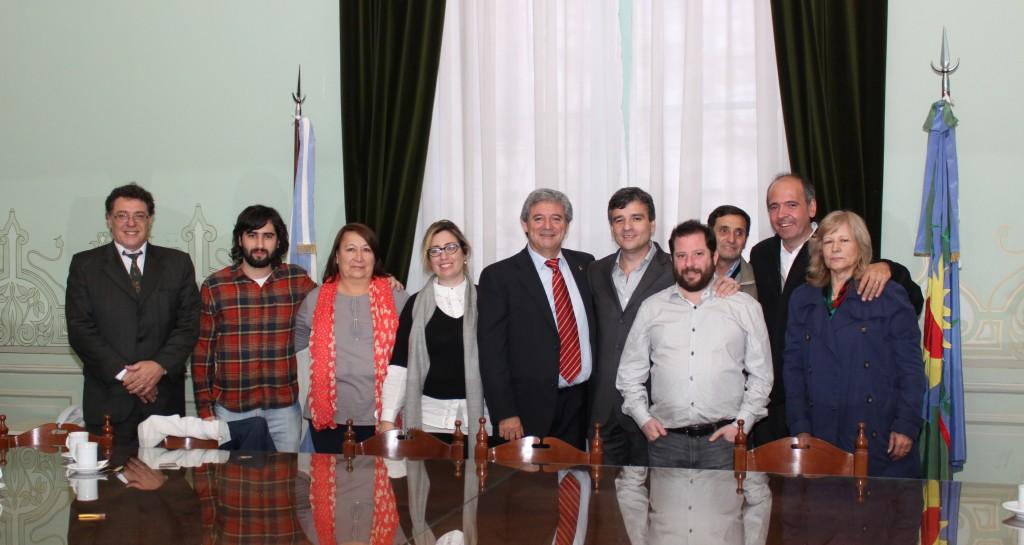 Juan Zabaleta y autoridades camara diputados- ley de fiscalia para Hurlingham