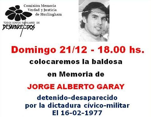 Jorge Alberto Garay detenidos desaparecido de Hurlingham
