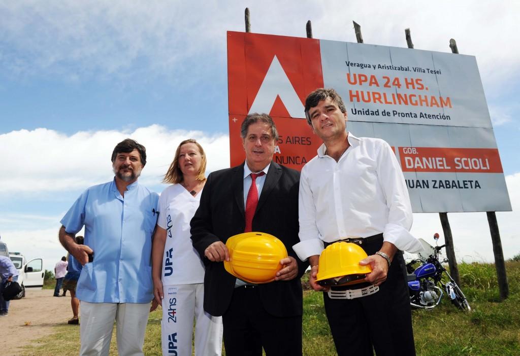 Collia y Zabaleta inicio obras hospital Hurlingham