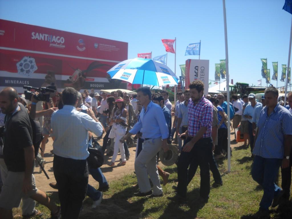Lucas Delfino con Mauricio Macri